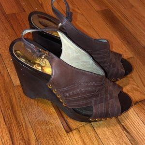 MK chocolate brown sandals!!